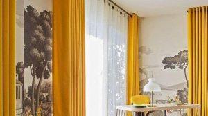 gorden rumah cantik warna kuning